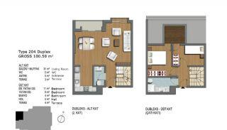 Eerste Klas Istanbul Appartementen Bieden Comfortabel Wonen, Vloer Plannen-8