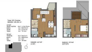 Eerste Klas Istanbul Appartementen Bieden Comfortabel Wonen, Vloer Plannen-9
