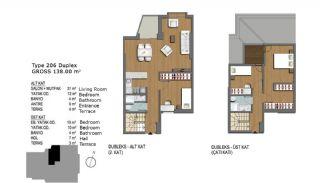 Eerste Klas Istanbul Appartementen Bieden Comfortabel Wonen, Vloer Plannen-10