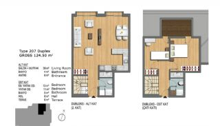 Eerste Klas Istanbul Appartementen Bieden Comfortabel Wonen, Vloer Plannen-11