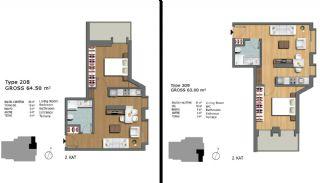 Eerste Klas Istanbul Appartementen Bieden Comfortabel Wonen, Vloer Plannen-12