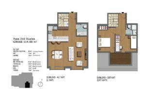 Eerste Klas Istanbul Appartementen Bieden Comfortabel Wonen, Vloer Plannen-13