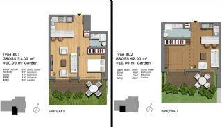 Eerste Klas Istanbul Appartementen Bieden Comfortabel Wonen, Vloer Plannen-14