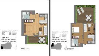 Eerste Klas Istanbul Appartementen Bieden Comfortabel Wonen, Vloer Plannen-15