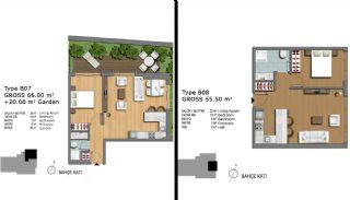 Eerste Klas Istanbul Appartementen Bieden Comfortabel Wonen, Vloer Plannen-17