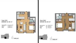 Eerste Klas Istanbul Appartementen Bieden Comfortabel Wonen, Vloer Plannen-18