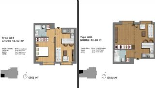 Eerste Klas Istanbul Appartementen Bieden Comfortabel Wonen, Vloer Plannen-19