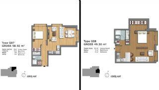 Eerste Klas Istanbul Appartementen Bieden Comfortabel Wonen, Vloer Plannen-20