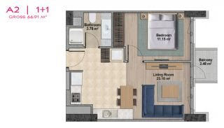 Spacious Apartments with Private School in Istanbul, Property Plans-3