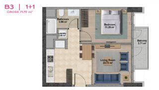 Spacious Apartments with Private School in Istanbul, Property Plans-8