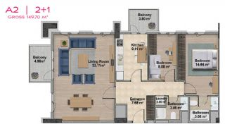 Spacious Apartments with Private School in Istanbul, Property Plans-10