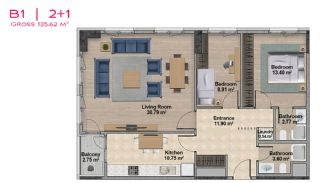 Spacious Apartments with Private School in Istanbul, Property Plans-12