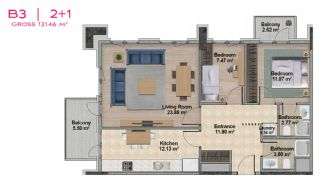 Spacious Apartments with Private School in Istanbul, Property Plans-14