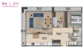 Spacious Apartments with Private School in Istanbul, Property Plans-15