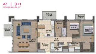 Spacious Apartments with Private School in Istanbul, Property Plans-17