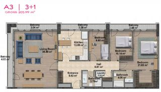 Spacious Apartments with Private School in Istanbul, Property Plans-18