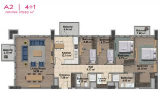 Spacious Apartments with Private School in Istanbul, Property Plans-21