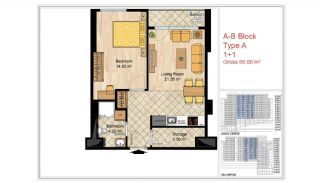 Quality Apartments Close to Social Facilities in Istanbul, Property Plans-1