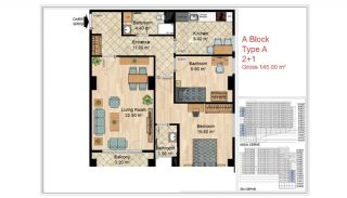 Quality Apartments Close to Social Facilities in Istanbul, Property Plans-5