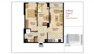 Quality Apartments Close to Social Facilities in Istanbul, Property Plans-6