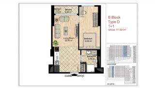 Quality Apartments Close to Social Facilities in Istanbul, Property Plans-9