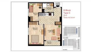 Quality Apartments Close to Social Facilities in Istanbul, Property Plans-11