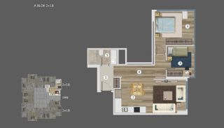 Sea and Island Views Istanbul Flats with Smart Home System, Property Plans-2