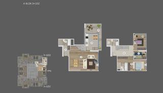 Умные Квартиры с Видом на Море и Остров в Стамбуле, Планировка -9