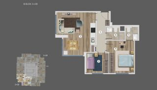 Sea and Island Views Istanbul Flats with Smart Home System, Property Plans-15