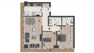 Eco-Friendly Apartments on the Asian Side of Istanbul, Property Plans-4