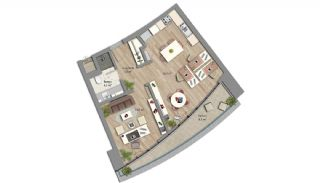 Appartements Prêts Istanbul avec Bureaux à Domicile, Projet Immobiliers-3