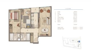 Apartments in Istanbul Near the Important Points of the City, Property Plans-1