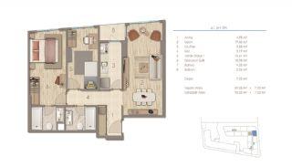 Lägenheter i Istanbul Nära Viktiga Punkter i Staden, Planritningar-1