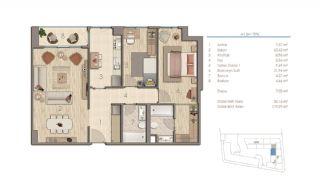 Lägenheter i Istanbul Nära Viktiga Punkter i Staden, Planritningar-2