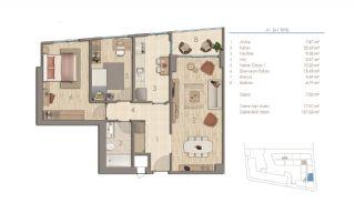 Lägenheter i Istanbul Nära Viktiga Punkter i Staden, Planritningar-3