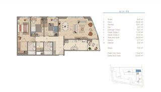 Lägenheter i Istanbul Nära Viktiga Punkter i Staden, Planritningar-4