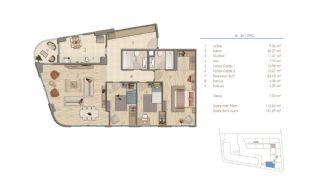 Lägenheter i Istanbul Nära Viktiga Punkter i Staden, Planritningar-5