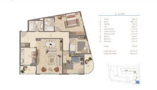 Lägenheter i Istanbul Nära Viktiga Punkter i Staden, Planritningar-6