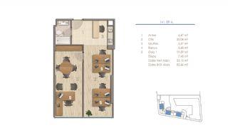 Lägenheter i Istanbul Nära Viktiga Punkter i Staden, Planritningar-7
