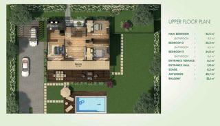 Vrijstaande Villa's Ingebed in Natuur|Istanbul, Vloer Plannen-2