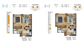 Centrally Apartments in Maltepe Close to All Amenities, Property Plans-2