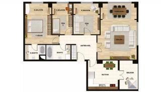 Квартиры в Центре Стамбула Рядом с Шоссе ТЕМ, Планировка -1