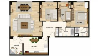 Centrally Istanbul Apartments Close to TEM Highway, Property Plans-2