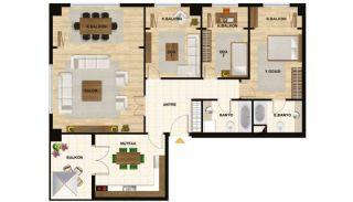 Квартиры в Центре Стамбула Рядом с Шоссе ТЕМ, Планировка -5