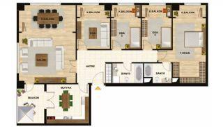 Квартиры в Центре Стамбула Рядом с Шоссе ТЕМ, Планировка -6