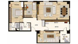 Квартиры в Центре Стамбула Рядом с Шоссе ТЕМ, Планировка -9