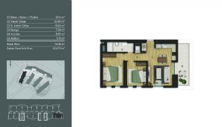 Samtida Istanbul Lägenheter i Ett Modernt Komplex, Planritningar-1