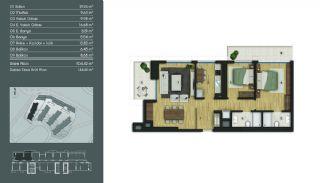 Samtida Istanbul Lägenheter i Ett Modernt Komplex, Planritningar-6