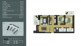 Samtida Istanbul Lägenheter i Ett Modernt Komplex, Planritningar-7