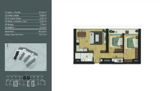 Samtida Istanbul Lägenheter i Ett Modernt Komplex, Planritningar-8